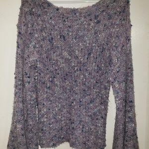 Lavender & Turquoise - •F21•   Boho Knit Sweater